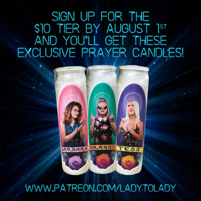 Lady to Lady Prayer Candles